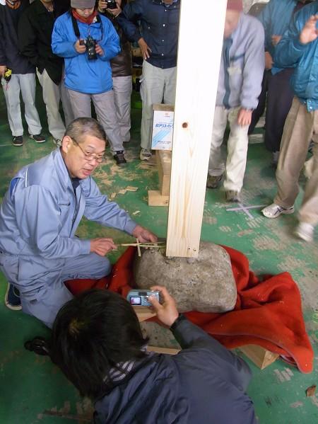 竹コンパスを駆使してひかり付けの実習 大子研修会