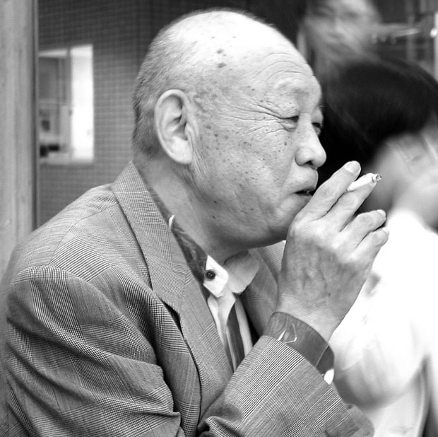 写真 田中文男さんの遺影