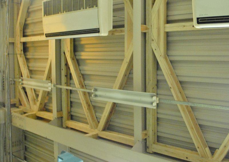 木造フレーム加力実験のご案内 写真