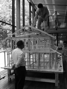 伝統構法でつくる彦根の民家の模型